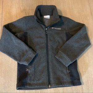 Columbia boys gray fleece jacket XS 6/7